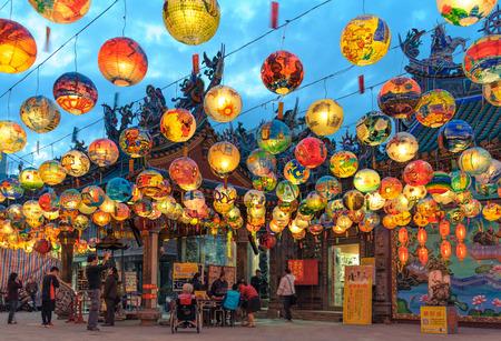 pu: Pu Ji Temple Lunar New Year Painted Lantern Festival in Tainan Editorial