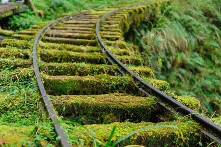 railway track: Abandoned railway tracks in Yilan, Taiwan Stock Photo