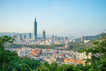 台北市の全景 写真素材