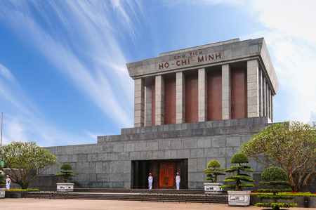 Ho Chi Minh Mausoleum in centre of the Ba Dinh Square, Hanoi, Vietnam