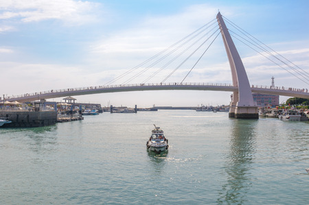 fishermans wharf and the lovers bridge in tamsui