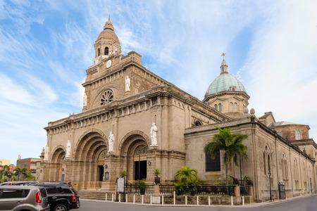 Kathedraal van Manilla, Intramuros, Manila, Filipijnen Redactioneel