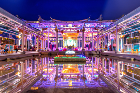 worshipped: Hu Sheng temple in changhua, which is devoted to Matsu, the widely worshipped Goddess of the Sea