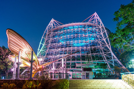 The tropical Rain Forest Greenhouse in Taichung Botanical Garden of the National Museum of Natural Science.