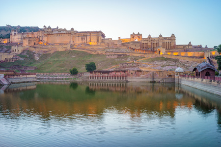 mughal empire: Amber fort in Jaipur, Rajasthan, India Stock Photo