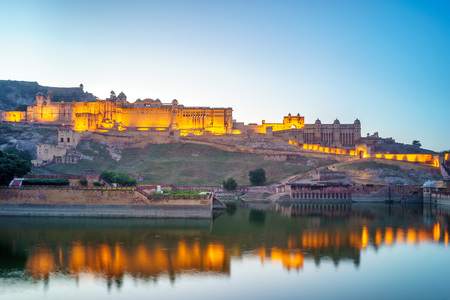 amber fort: Amber fort in Jaipur, Rajasthan, India Stock Photo