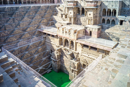 chand: Chand Baori, a stepwell situated in the village of Abhaneri near Jaipur, India