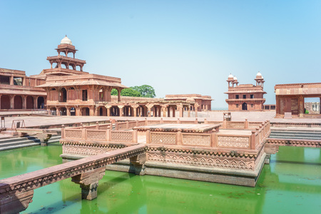 Fatehpur Sikri, a city served as the capital of the Mughal Empire from 1571 to 1585