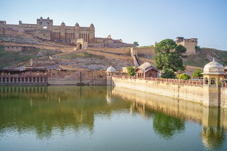 mughal empire: Amber fort in Jaipur, Rajasthan, India Editorial