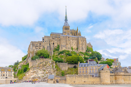 manche: Mont saint Michel in Normandy, France Editorial