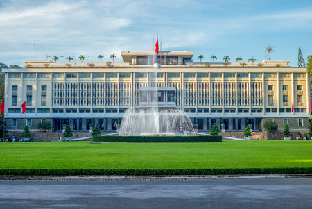 Independence Palace in Saigon, Vietnam Stock Photo