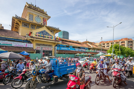 tay: Binh Tay Market, the Central Market of Cho Lon, It is the largest marketplace before the road leading West to Mien Tay of Vietnam Editorial