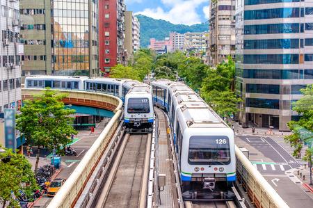 taipei metro system 版權商用圖片 - 68944888
