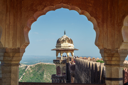mughal empire: Jaigarh Fort, Jaipur, Rajasthan Stock Photo