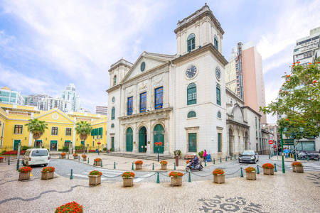 Cathedral of the Nativity of Our Lady, Macau Stock Photo