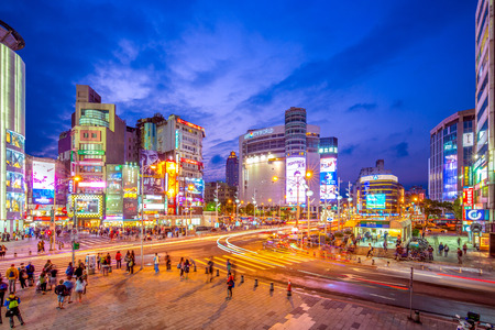 night view of ximending, one of the most popular tourist spots