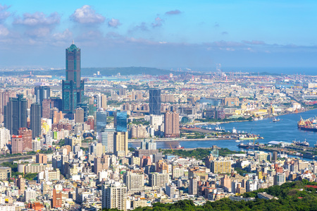 Cityscape of kaohsiung city, taiwan
