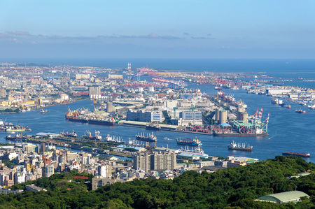 Aerial view of kaohsiung harbor