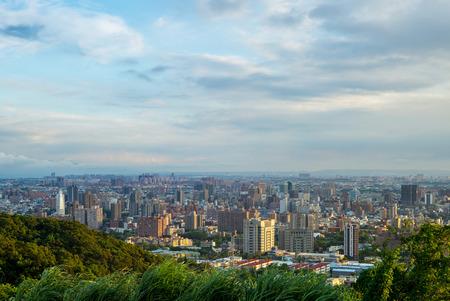 Aerial view of taoyuan city, taiwan