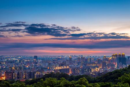 Vue aérienne de la ville de Taoyuan, Taiwan Banque d'images - 78763179