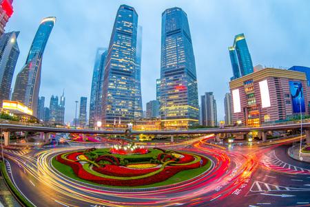 Night view of shanghai 写真素材