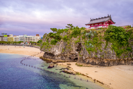 Landscape of Naminoue Shrine in okinawa