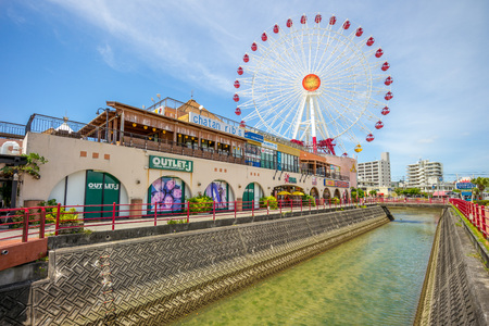 American Village, a large entertainment complex located in central Okinawa Honto