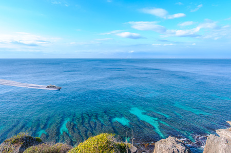 Houshi Fringing Reef of Little Liuqiu, pingtung, taiwan Foto de archivo