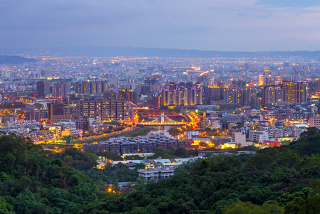 Cityscape of Dakeng, Taichung 版權商用圖片 - 81338784
