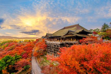 교토, 일본의 기요 미즈 데라