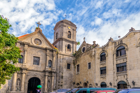 San Agustin Church, een rooms-katholieke kerk onder auspiciën van de Orde van Sint-Augustinus Stockfoto