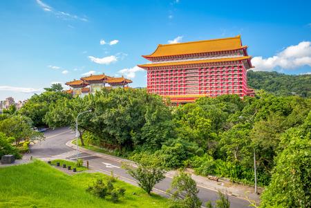 Landscape of taipei city near yuanshan 新聞圖片