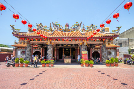 Lukang Mazu Temple. A Chinese temple dedicated to the Chinese sea goddess Mazu Editorial