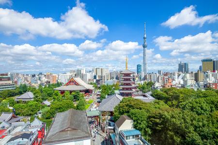 aerial view of Tokyo city Foto de archivo