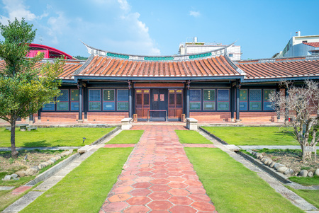 traditional chinese style building at Wufeng Lin Family Mansion and Garden Foto de archivo