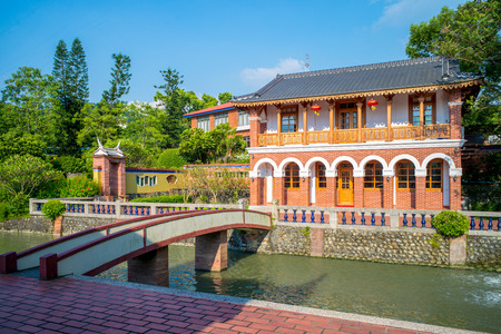 traditional chinese style building at Wufeng Lin Family Mansion and Garden