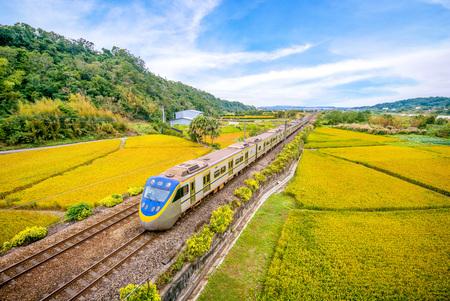 train on the field 写真素材