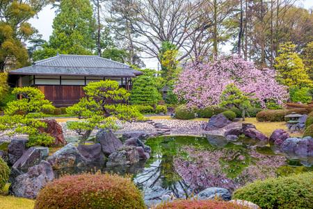 Ninomaru Garden in Nijo Castle in Kyoto, Japan
