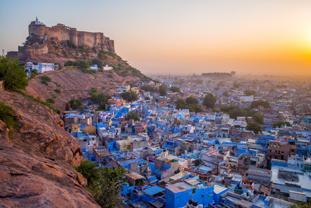 aerial view of jodhpur in rajasthan 스톡 콘텐츠