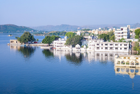 landscape of udaipur, rajasthan, india
