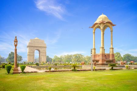 Canopy i India Gate w New Delhi w Indiach Zdjęcie Seryjne