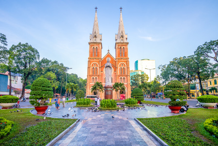 Notre-Dame Cathedral Basilica of Saigon, Vietnam Stock Photo