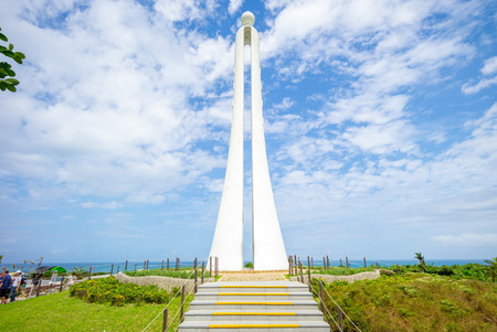The Tropic of Cancer Marker at Hualien, Taiwan Stock fotó