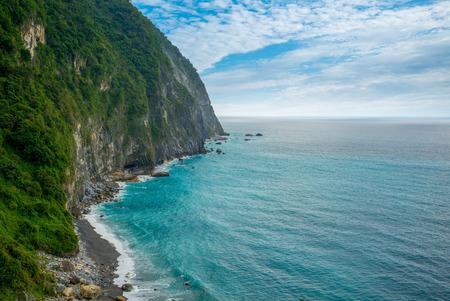 paesaggio di Qingshui Cliff a Taiwan Archivio Fotografico