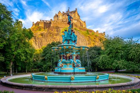 Edinburgh Castle and Ross Fountain