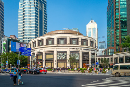The world's largest Starbucks in Shanghai, Officially opened to the public on December 6, 2017 Editorial