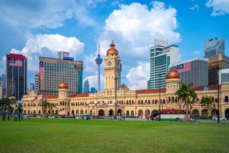 sultan abdul samad building in Kuala Lumpur, Malaysia Imagens