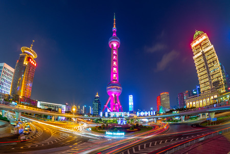 Oriental Pearl Radio & Television Tower, a TV tower in Shanghai.