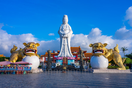 Guanyin on top of Chung Cheng park in keelung, taiwan Editorial