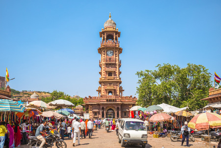 Sardar Market and Ghanta ghar Clock tower, jodhpur